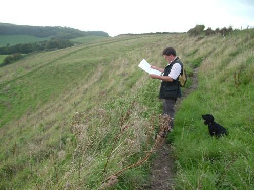 Looking towards the Dorset Gap